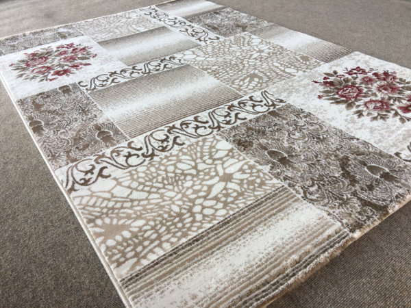 релефен килим ривиера 5540 крем-пудра